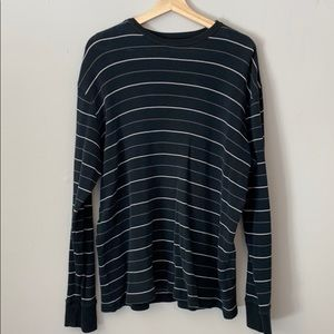Mens Stripes Long Sleeve Sweater